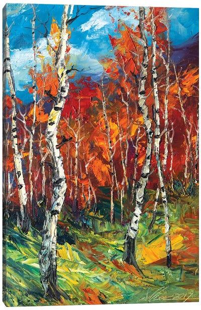 Autumn Birch II Canvas Art Print