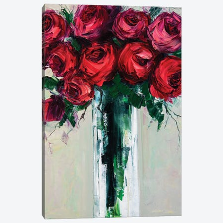 Red Roses Canvas Print #WLA43} by Willson Lau Canvas Art