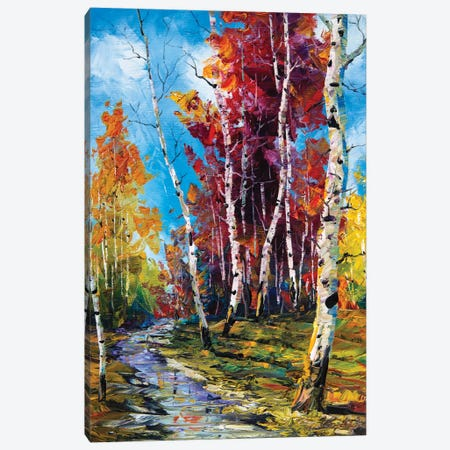 Birch Forest V Canvas Print #WLA44} by Willson Lau Canvas Print