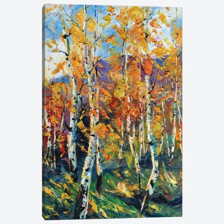 Birch Forest VI Canvas Print #WLA46} by Willson Lau Canvas Art Print