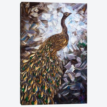 Peacock XXIV Canvas Print #WLA50} by Willson Lau Canvas Print