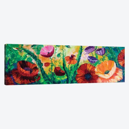 Poppy Field IV Canvas Print #WLA56} by Willson Lau Canvas Artwork