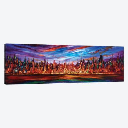 Modern City Skyline Canvas Print #WLA58} by Willson Lau Canvas Print
