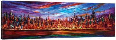 Modern City Skyline Canvas Art Print