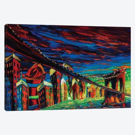 Modern City Impression Canvas Print #WLA65} by Willson Lau Art Print