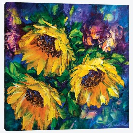 Sunflower Field Canvas Print #WLA67} by Willson Lau Canvas Art Print