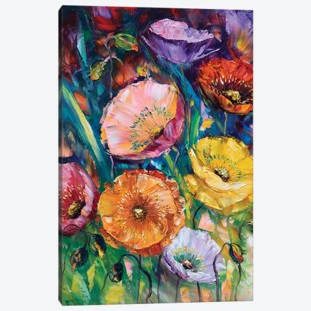 Poppy Field II Canvas Print #WLA7} by Willson Lau Canvas Print