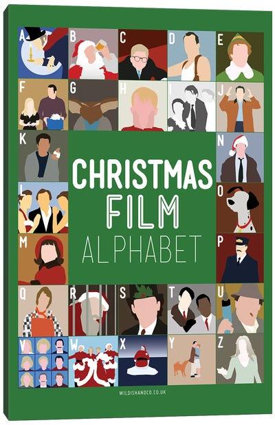Holiday Alphabet Canvas Art Print