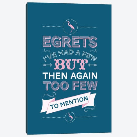 Egrets Canvas Print #WLD34} by Stephen Wildish Canvas Art Print
