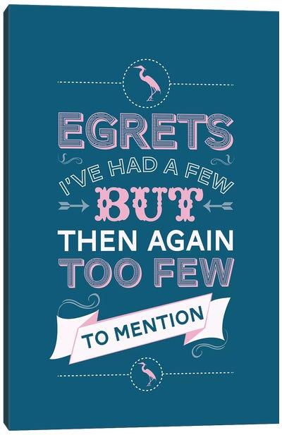 Egrets Canvas Art Print