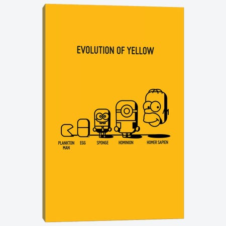 Evolution Of Yellow Canvas Print #WLD35} by Stephen Wildish Canvas Print