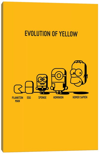 Evolution Of Yellow Canvas Art Print