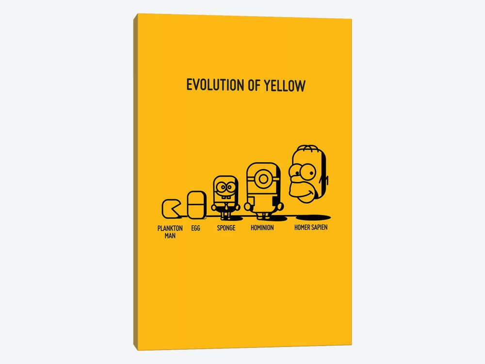 Evolution Of Yellow 1-piece Canvas Art