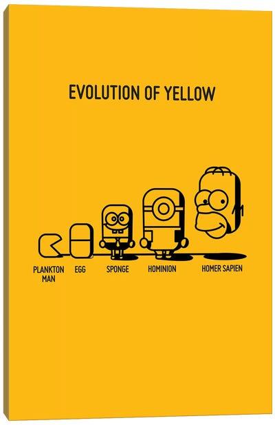 Evolution Of Yellow Canvas Art Print