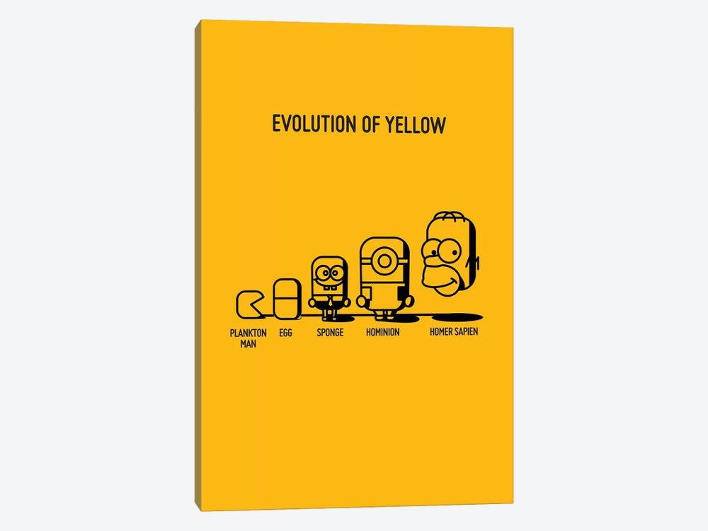 Evolution Of Yellow by Stephen Wildish 1-piece Canvas Art
