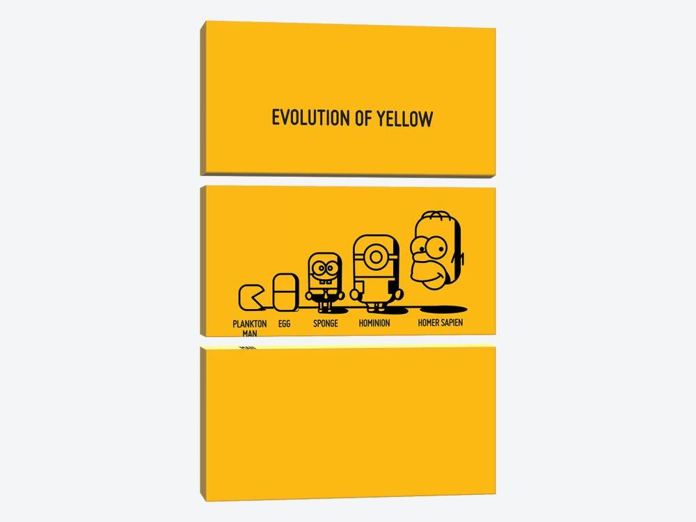 Evolution Of Yellow by Stephen Wildish 3-piece Canvas Art