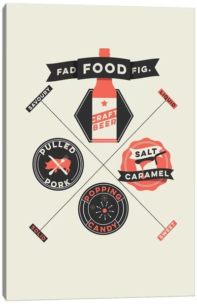 Fad Foods Canvas Art Print