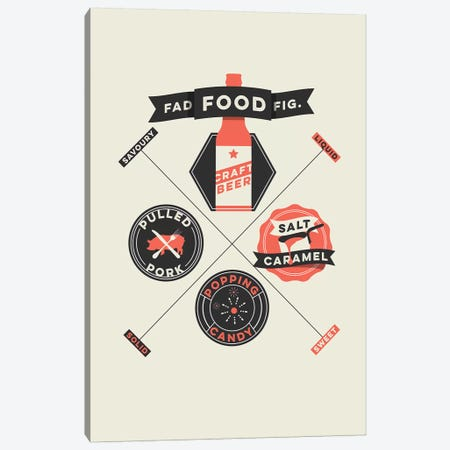Fad Foods Canvas Print #WLD37} by Stephen Wildish Canvas Print