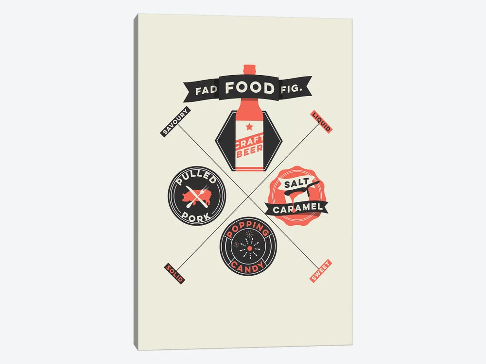 Fad Foods by Stephen Wildish 1-piece Canvas Artwork
