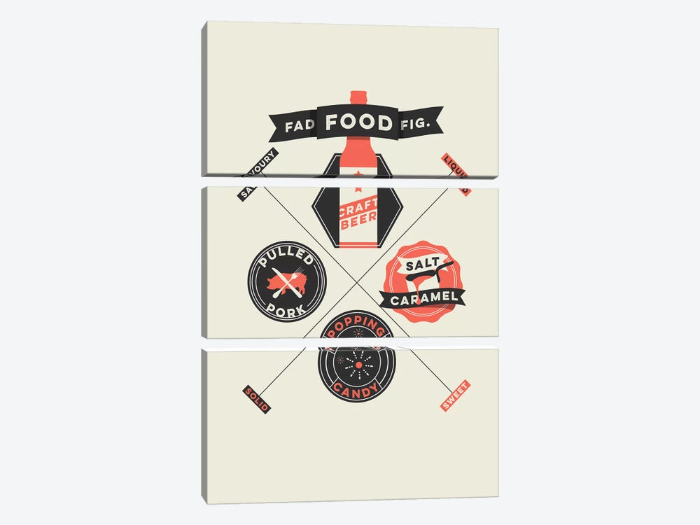 Fad Foods 3-piece Canvas Artwork