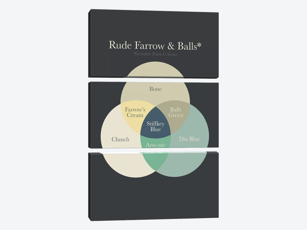 Farrow Balls by Stephen Wildish 3-piece Canvas Artwork