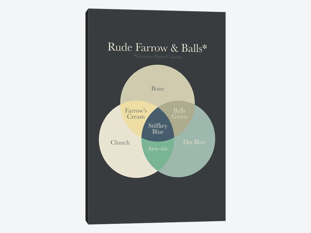 Farrow Balls by Stephen Wildish 1-piece Canvas Artwork