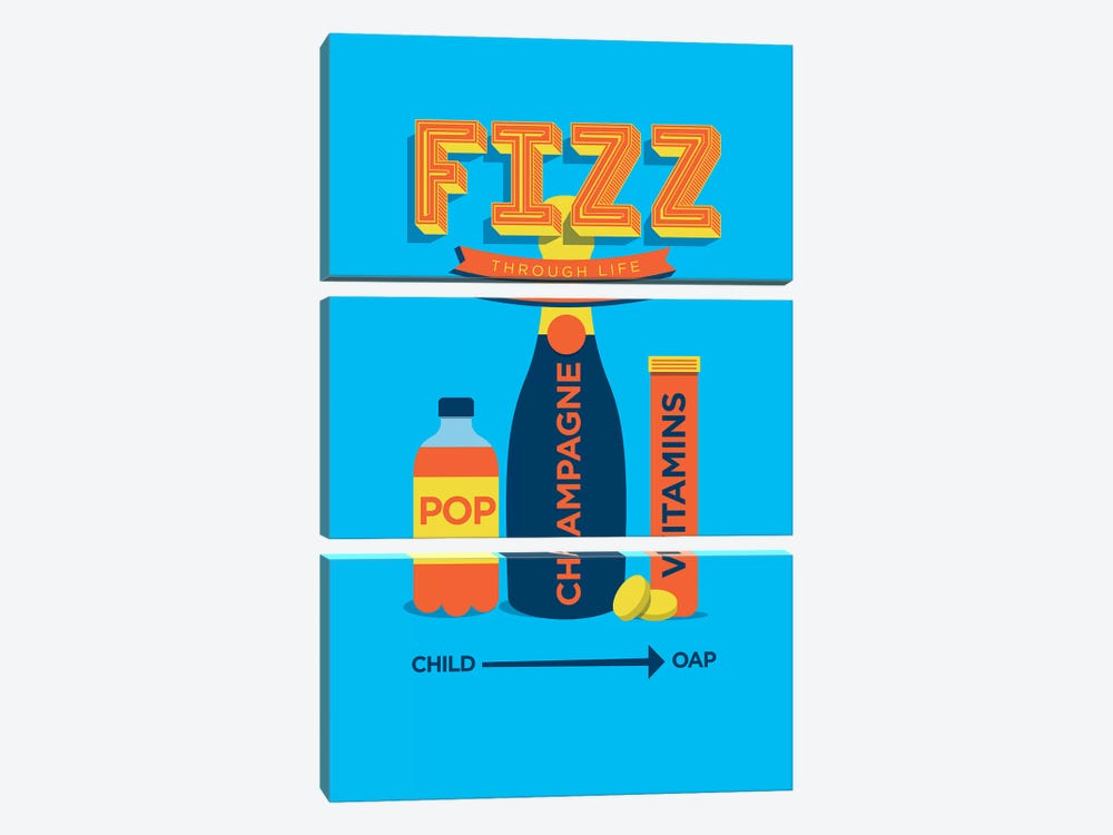 Fizz by Stephen Wildish 3-piece Canvas Artwork