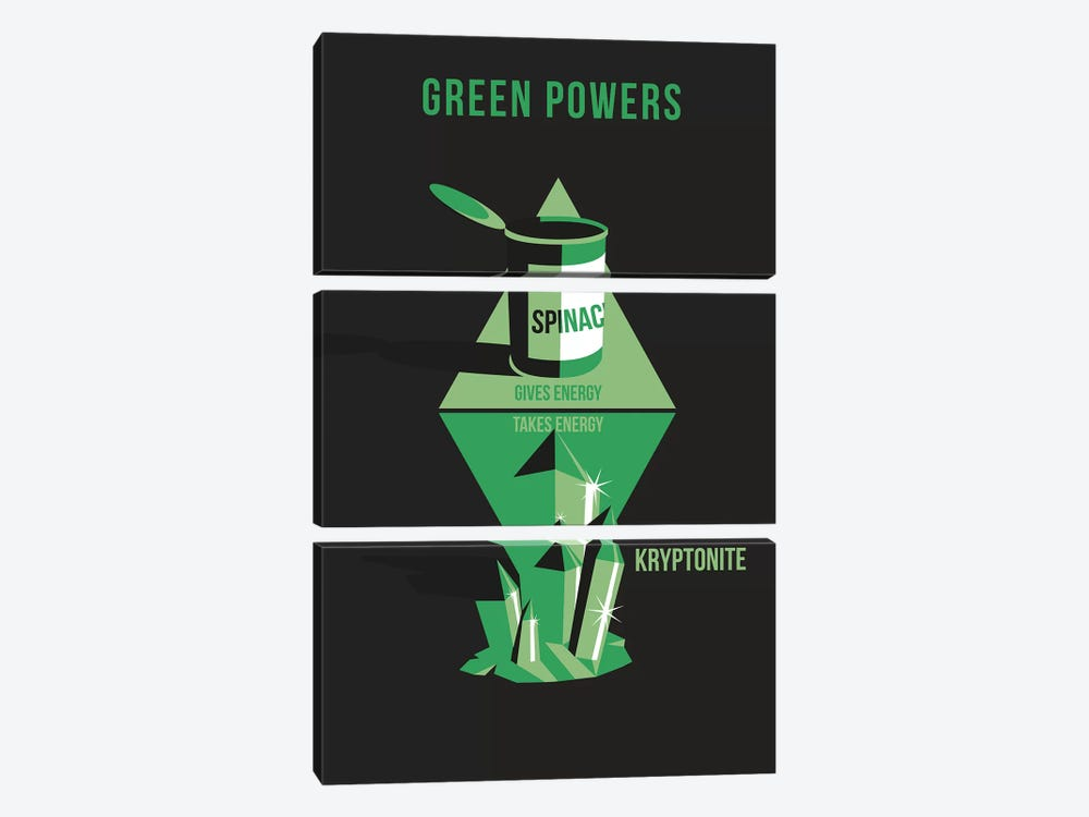 Green Powers by Stephen Wildish 3-piece Canvas Artwork