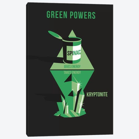 Green Powers Canvas Print #WLD44} by Stephen Wildish Canvas Wall Art
