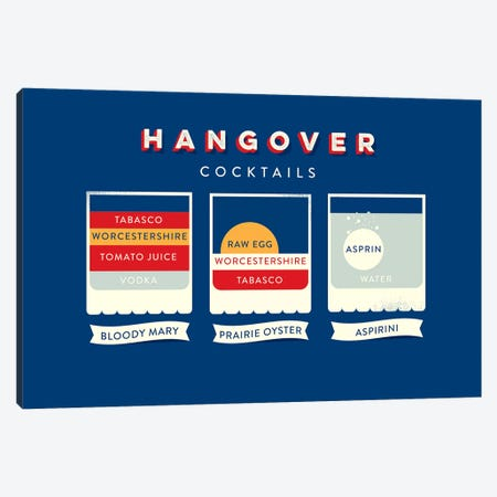 Hangover Canvas Print #WLD45} by Stephen Wildish Canvas Art