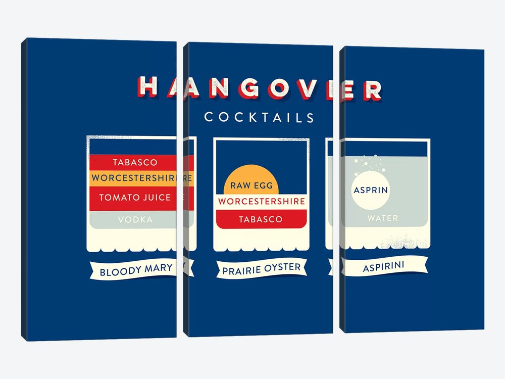 Hangover by Stephen Wildish 3-piece Canvas Print