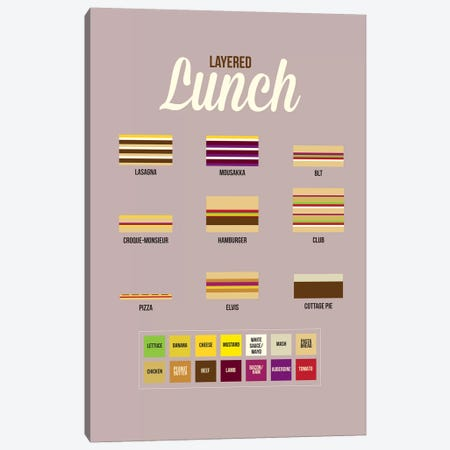 Lunch Canvas Print #WLD53} by Stephen Wildish Canvas Artwork