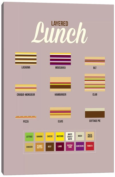 Lunch Canvas Art Print