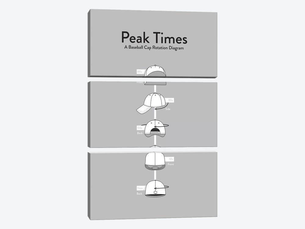 Peak Times by Stephen Wildish 3-piece Canvas Art Print