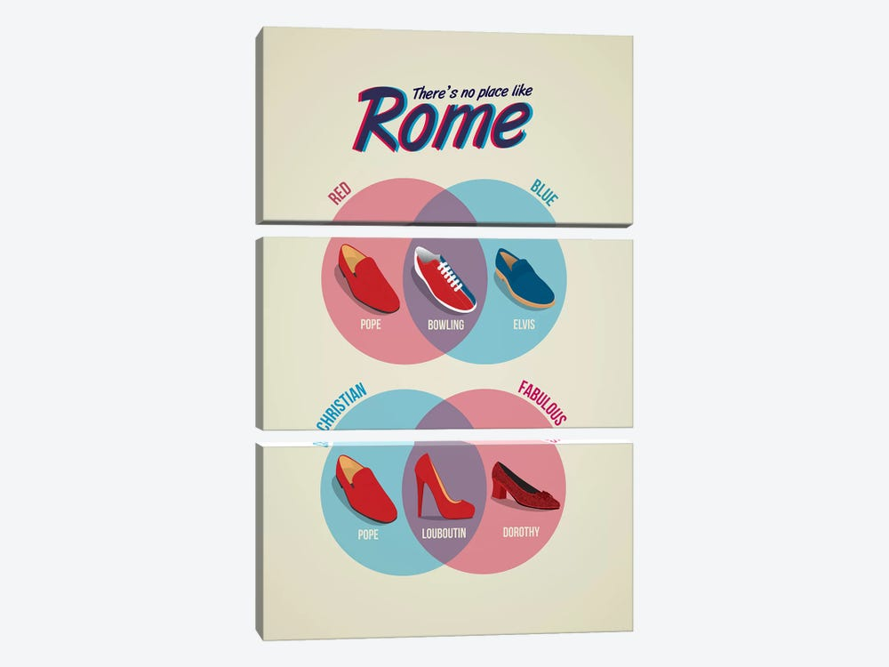 Rome by Stephen Wildish 3-piece Canvas Wall Art