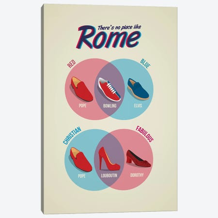 Rome Canvas Print #WLD71} by Stephen Wildish Canvas Wall Art