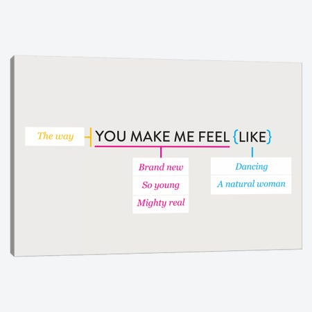 You Make Me Feel Like 3-Piece Canvas #WLD78} by Stephen Wildish Canvas Art