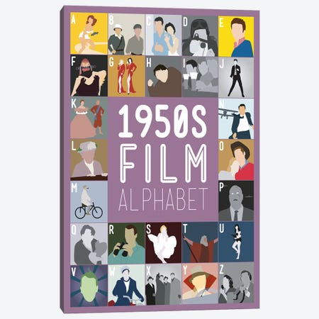 1950s Film Alphabet Canvas Print #WLD79} by Stephen Wildish Canvas Wall Art