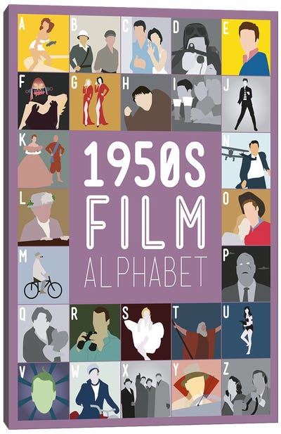 1950s Film Alphabet Canvas Art Print