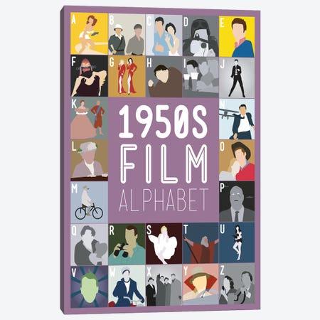 1950s Film Alphabet Canvas Print #WLD79} by Stephen Wildish Canvas Wall Art