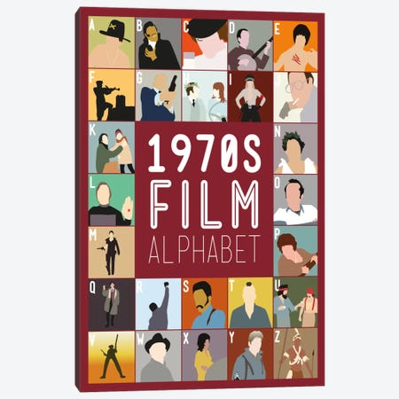 1970s Film Alphabet Canvas Print #WLD81} by Stephen Wildish Canvas Art Print