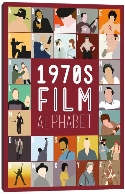1970s Film Alphabet Canvas Art Print