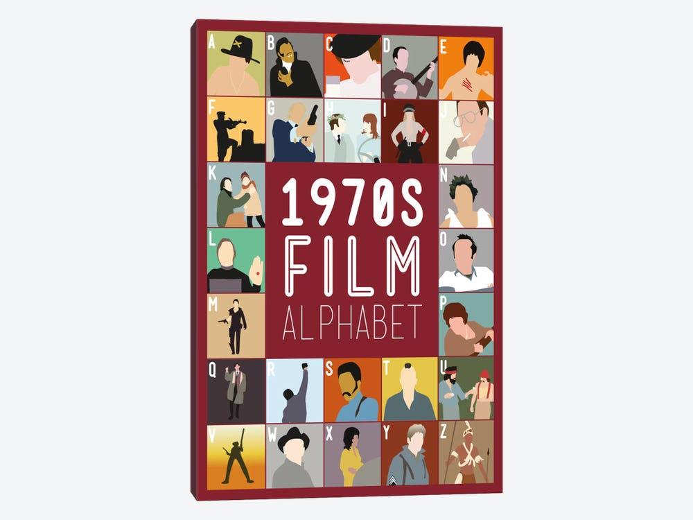 1970s Film Alphabet by Stephen Wildish 1-piece Canvas Print