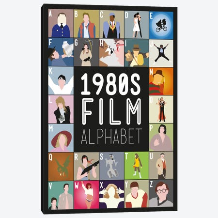 1980s Film Alphabet Canvas Print #WLD82} by Stephen Wildish Canvas Print