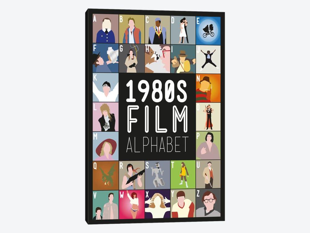 1980s Film Alphabet by Stephen Wildish 1-piece Canvas Artwork