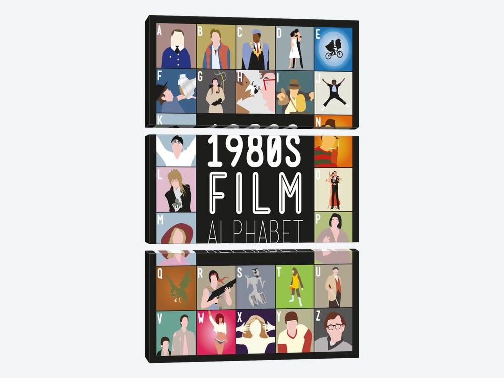 1980s Film Alphabet by Stephen Wildish 3-piece Canvas Art