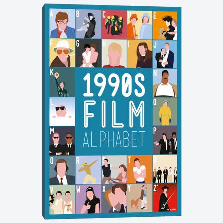 1990s Film Alphabet Canvas Print #WLD83} by Stephen Wildish Canvas Print