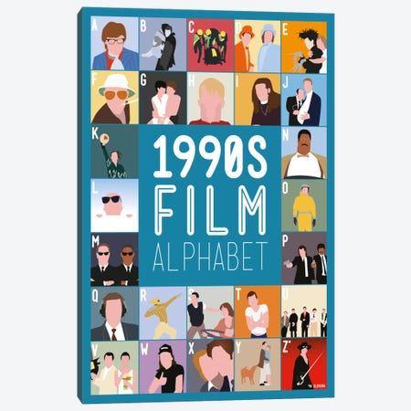 1990s Film Alphabet Canvas Print #WLD83} by Stephen Wildish Canvas Print