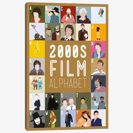 2000s Film Alphabet Canvas Print #WLD84} by Stephen Wildish Canvas Artwork