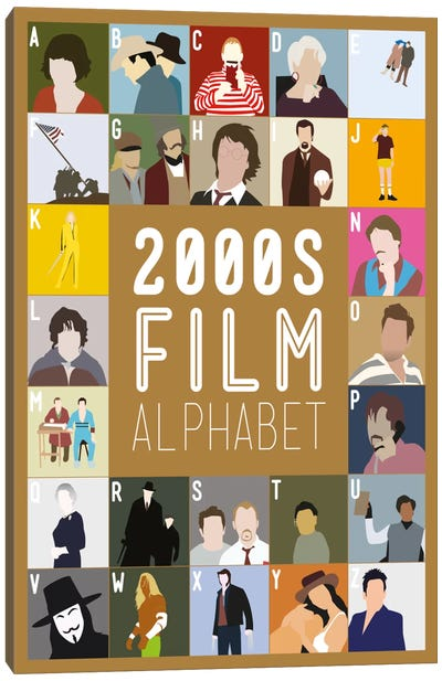 2000s Film Alphabet Canvas Art Print